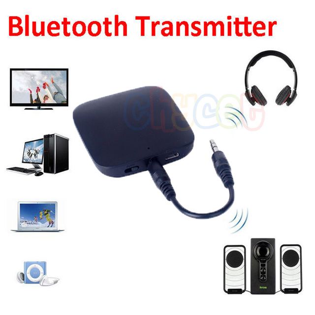 New 3.5mm Bluetooth Transmitter Transmite Mini Bluetooth Audio Transmitter A2DP Stereo Dongle Adapter for iPod TV Mp3 Mp4 PC