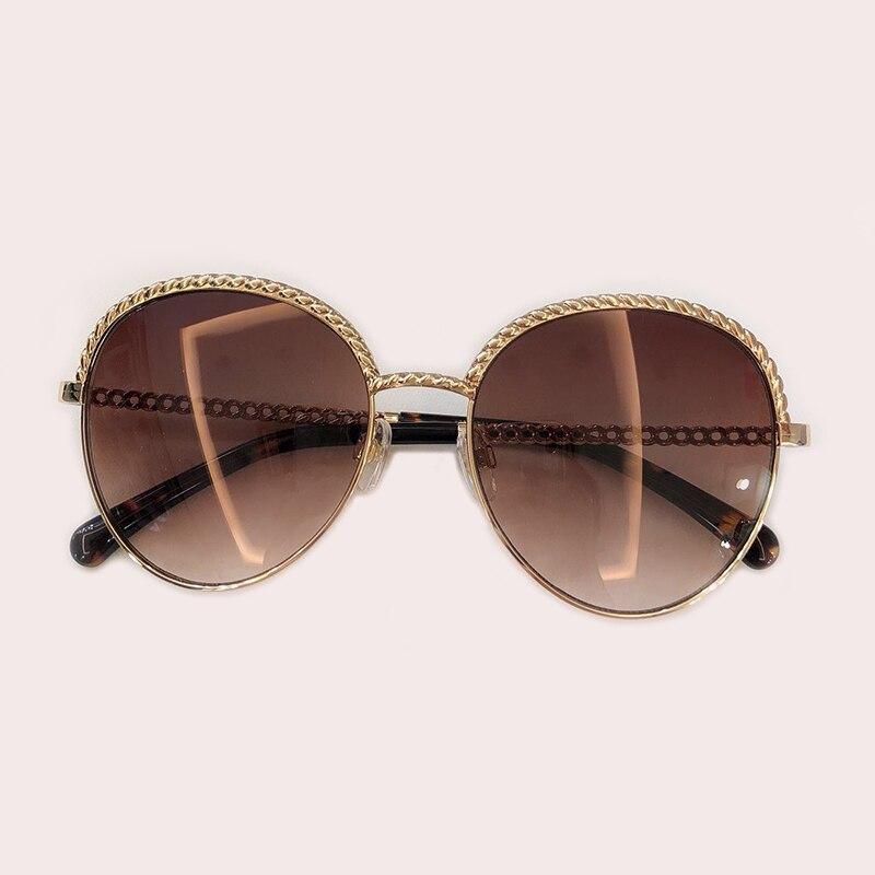 Nouvelle marque Designer Unique chaîne lunettes De soleil 2019 personnalité De luxe beau élégant femmes hommes lunettes De soleil Oculos De Grau