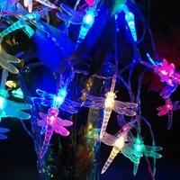 イーヤンクリスマスノベルティライトトンボ9色ledストリング10メートル100 ledsホリデーウェディングイベントのパーティー照明110ボルト220ボルト米国eu