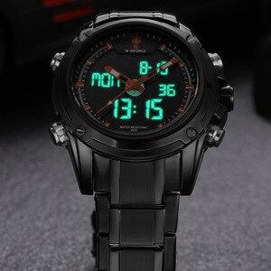 Image 3 - Naviforce montre à Quartz pour hommes, montre bracelet de sport analogique LED, de marque de luxe, style militaire, pour hommes