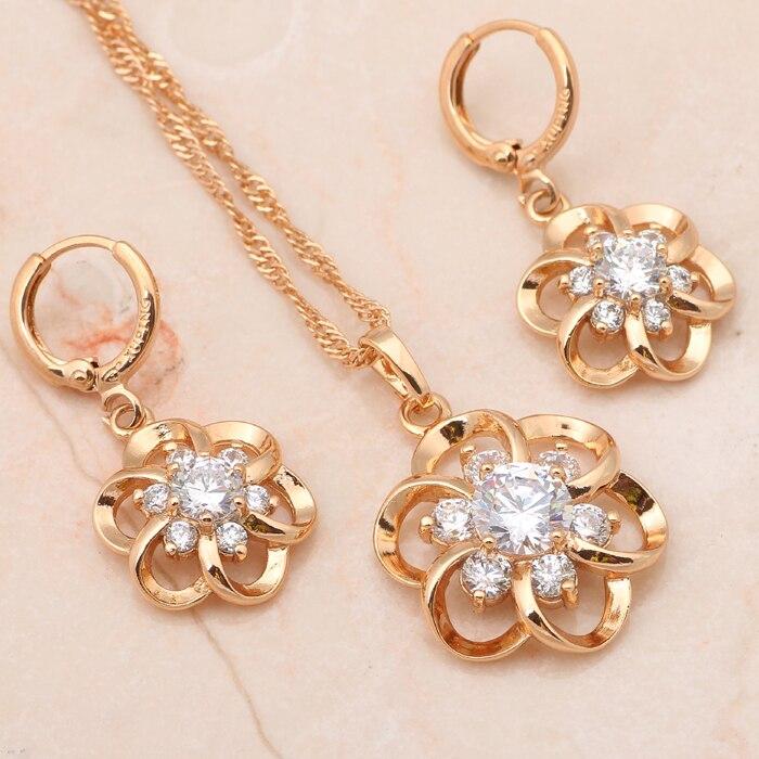Flower Fashion jewelry Beautiful jewelry sets Earrings Necklace ...