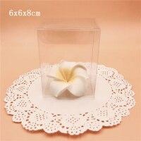 6*6*8 cm Caixa de PVC Transparente Caixas de Embalagens de Presente de Casamento Lembrança Caixa de Embalagem Dos Doces Jóias De Chocolate Transparente caixa