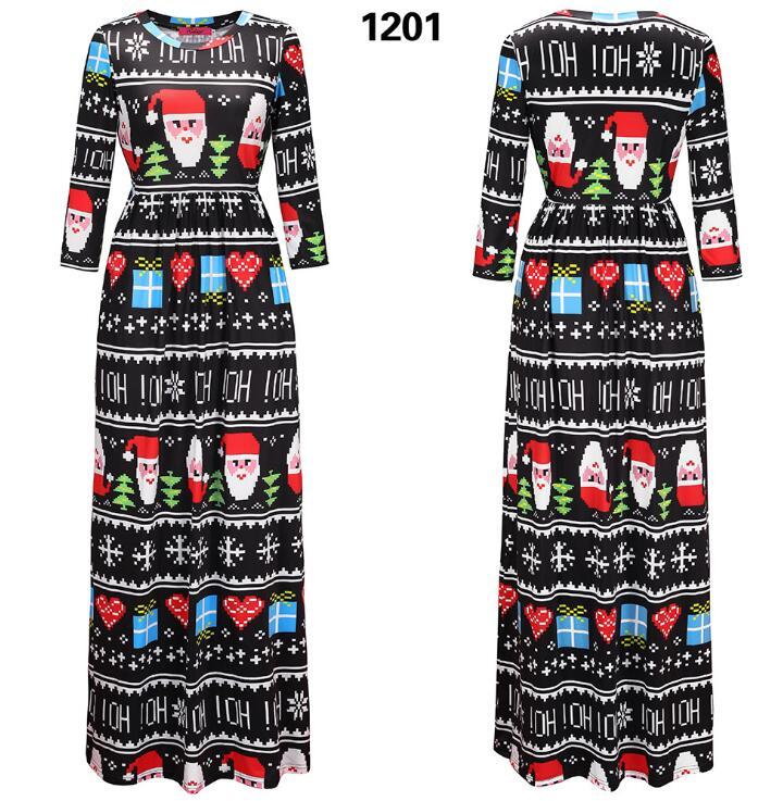 20pcs/lots AliExpress Amazon Europe Station 2017 new Christmas dress clothes dress Christmas costume female
