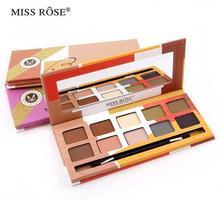 Miss Rose Nude Matte Shimmer Da Sombra de Maquiagem 10 Cores da Paleta Da sombra de Olho maquiagem conjunto de cosméticos