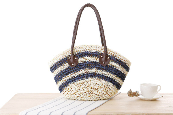 Uoct.all 2018 New Summer Style Beach Handbags Striped Large Bow ... a08214e274973