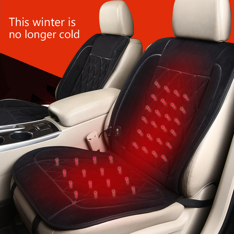 Winter Covers Pad Car Seat Cushion Electric Heated Cushion Car Heated Seat Heated Warm Seat Cushion Car Supplies for Kia etc 12v electric car heated seat cushion cover auto heating heater warmer pad winter car seat cover supplies hight quality