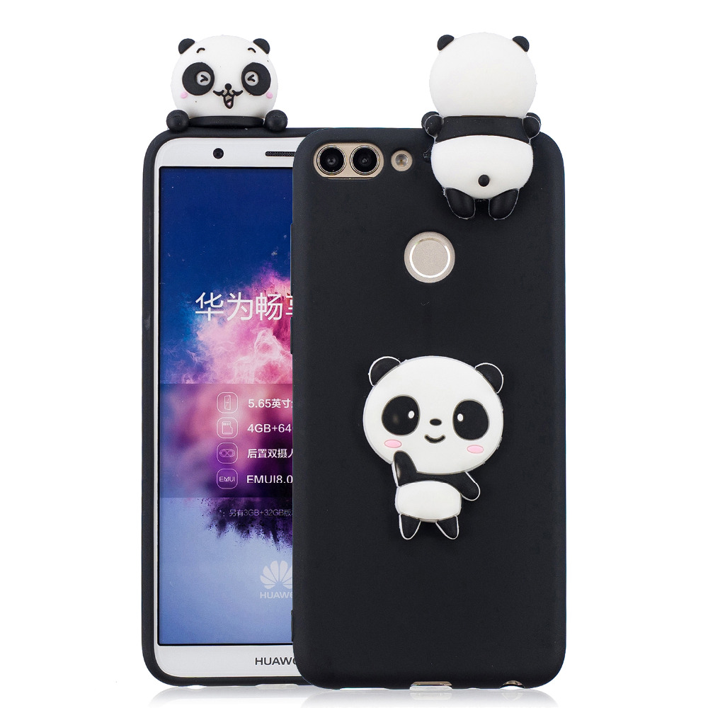 Image 2 - P Smart case for Fundas Huawei P Smart Plus 2019 case Coque Huawei P Smart 2018 case 3D Unicorn Panda Soft Silicone Phone cover-in Fitted Cases from Cellphones & Telecommunications