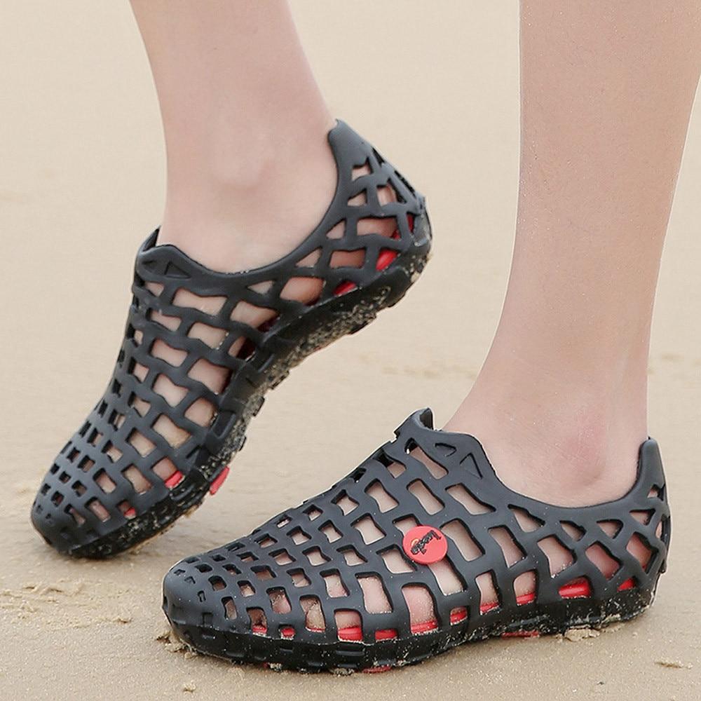 Shoes Sandals Couple Flip-Flops Classic Unisex Summer Hollow-Out Casual Men