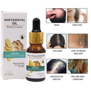 1PC 18ml Ginger Hair Growth Anti Hair Lo