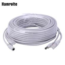 Hamrolte 5 M/10 M/20 M/30 M اختياري 2.1 مللي متر/5.5 مللي متر جاك RJ45 + DC تمديد الطاقة كابل إيثرنت CCTV لنظام كاميرات IP NVR