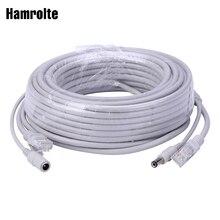 Hamrolte 5 M/10 M/20 M/30 M opcjonalnie 2.1mm/5.5mm jack RJ45 + DC rozszerzenie mocy Ethernet przewód cctv do kamery ip system nvr