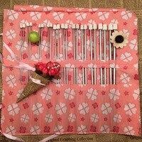22PCS Set 35cm Stainless Steel Single Pointed Knitting Needles Crochet Hook Tool Craft Knitting Needles Set