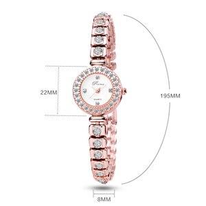 Image 5 - PREMA Ladies Bracelet Watch Women Luxury Fashion Rhinestone Quartz Watches Small Dial Stainless Steel Wristwatch Relogio 2020