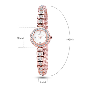Image 5 - PREMA panie bransoletka zegarek kobiety luksusowe moda Rhinestone zegarki kwarcowe mała tarcza ze stali nierdzewnej zegarek Relogio 2020
