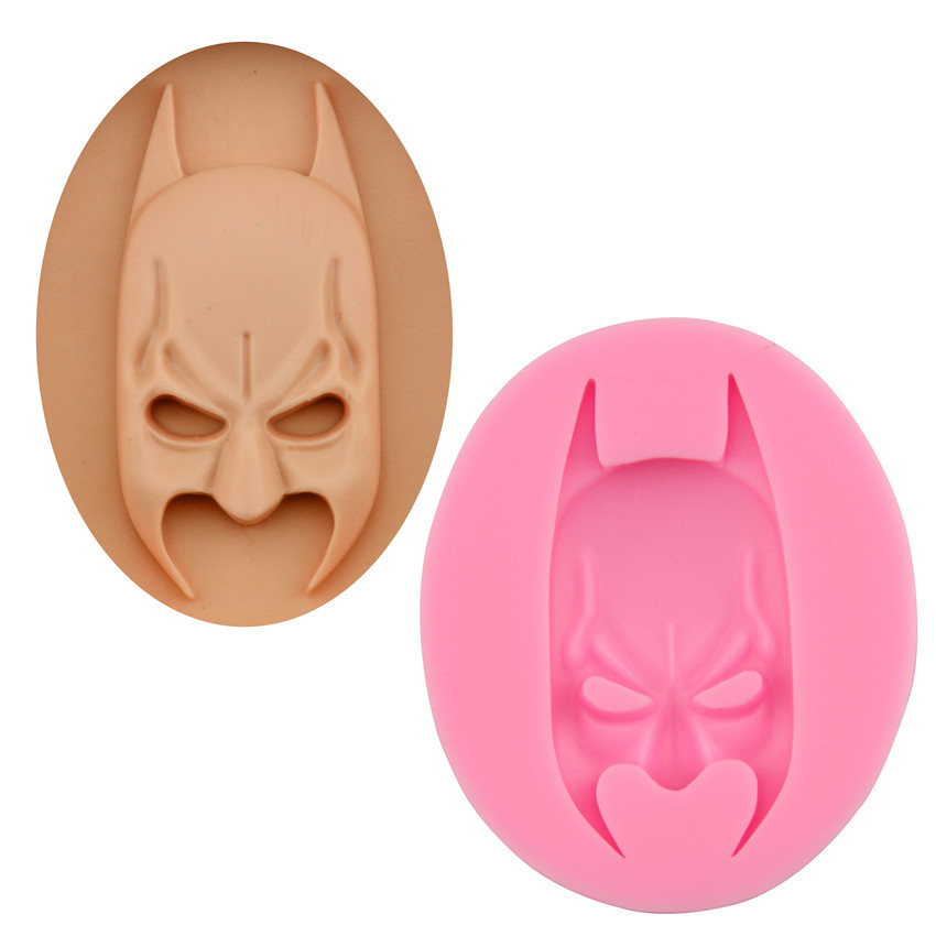 Batman Face Head Silicone Soap Mold Chocolate Candy Soap Form Cake Mould Mold Sugarcraft Fondant Baking Method Decorating Tool
