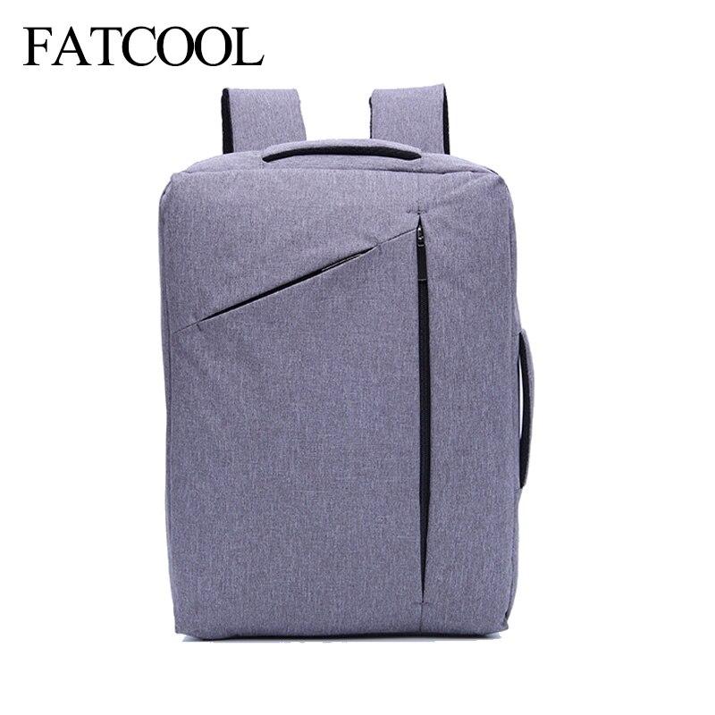 Men Multifunction Travel Notebook 15 inch CLaptop Backpack Bag arrying Case Handbag Briefc