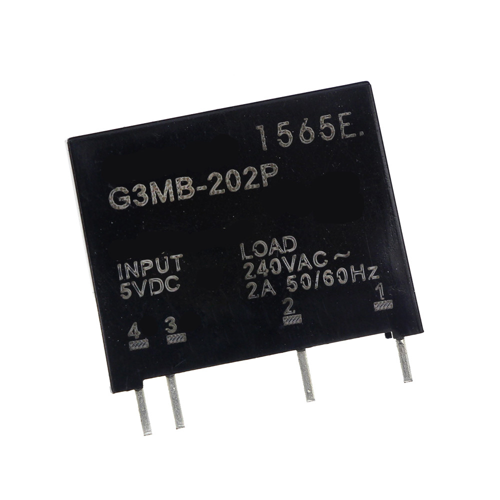Smart Electronics New Original Solid State Relay G3MB-202P DC-AC PCB SSR In 5VDC,Out 240V AC 2A normally open single phase solid state relay ssr mgr 1 d48120 120a control dc ac 24 480v