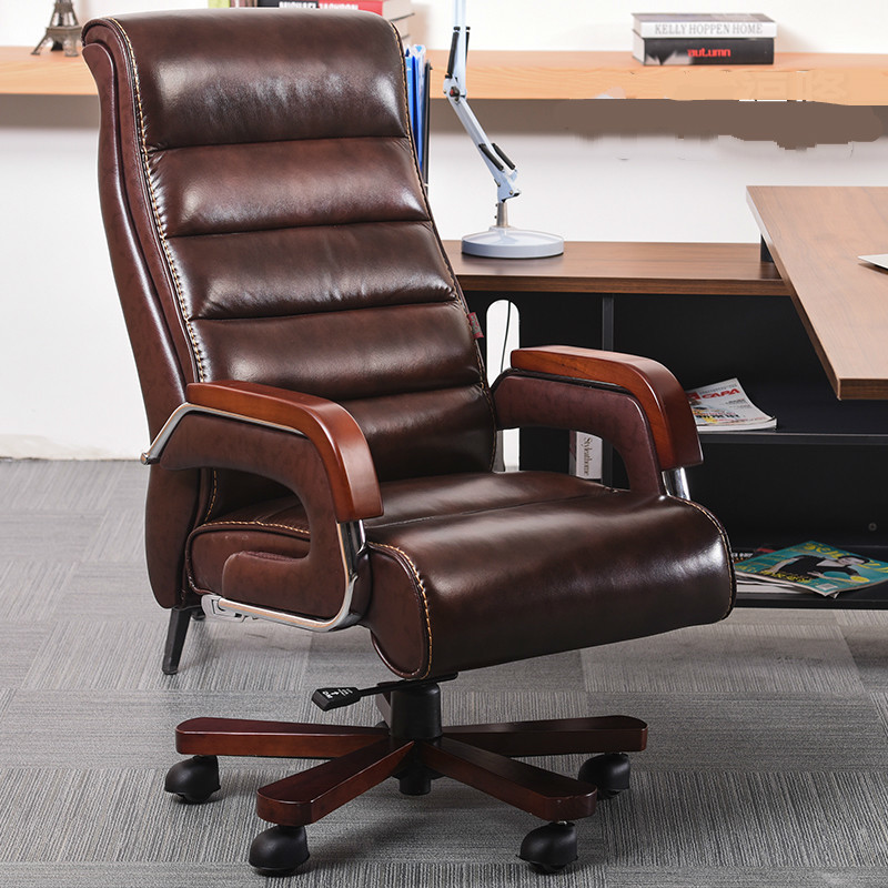 High Quality Ergonomic Leather Wooden Executive Office Chair Smart Electric Massage Chair Parents Business Gift bureaustoel in Office Chairs from Furniture