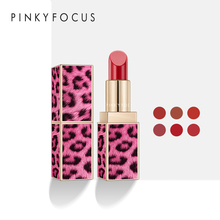 Brand Pudaier Hot Sale Bean Paste Color Lip Stain Waterproof Red Lip Tint Long Lasting Lip Makeup Batom Leopard Matte Lipstick цена