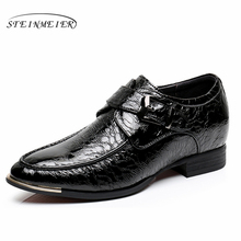 Mens formal shoes leather men increased oxford shoes for men dressing wedding office shoes lace up male zapatos de hombre