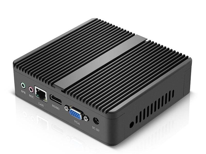 Fanless pc Mini-pc Windows 4200Y 4010Y 10 Intel Core i3 i5 i7 4610Y doble CoreMini PC de escritorio HDMI VGA Freeshipping