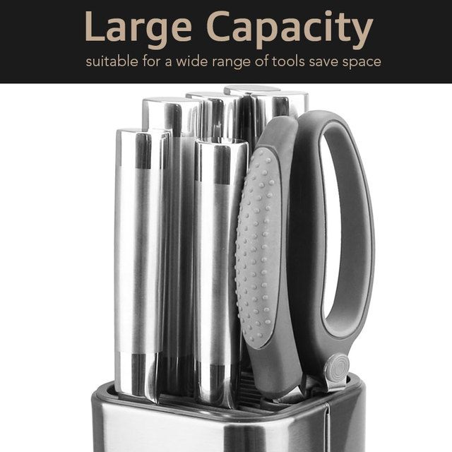 Knife Stand Holder For Kitchen Knife Stainless Steel Knife Holder Stand Block High End Kitchen Accessories 4