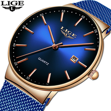 LIGE 2019 Top Brand Luxury Men's Watch 30m Waterproof Date Clock Male Sports Watches Men Quartz Casual Watch Relogio Masculino цена и фото