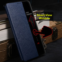 Mate 10 Pro Case Genuine Leather Cover For Huawei Mate 10 Pro Case Smart View Window