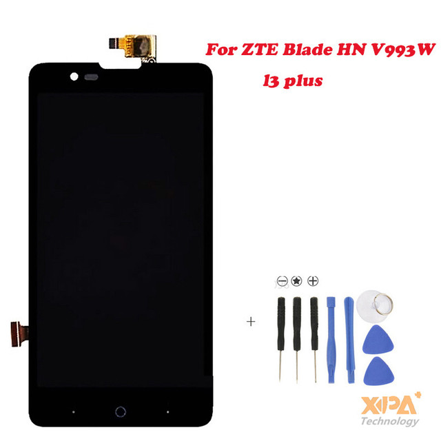 New Full LCD DIsplay + Touch Screen Digitizer Assembly For ZTE Blade HN V993W l3 plus (Black) Free shipping