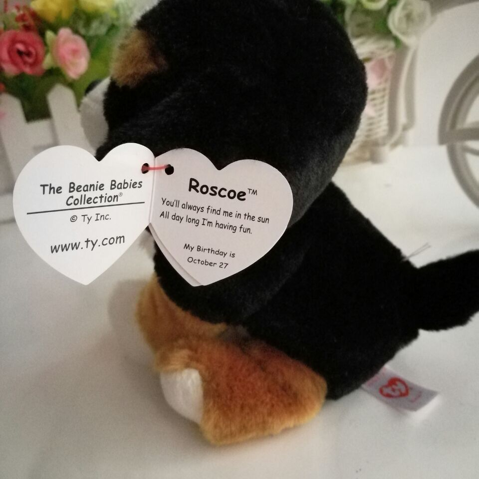 ... Plush  buying cheap 42cd6 493d0 TY BEANIE BABIES 2pcs one lot 25cm and  15CM ROSCOE Dog Big ... 115534e1713a