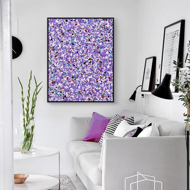 Lila Leinwand Malerei Abstrakte Malerei Kleine Blume Bild Home Decor ...