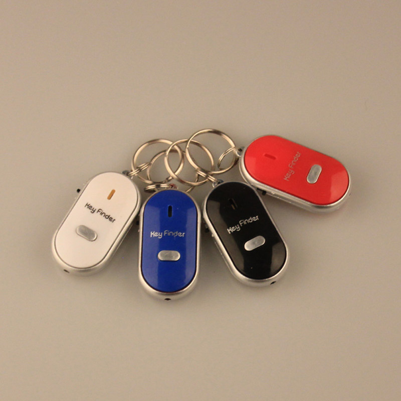 US $5 3 |Key Location Alarm System LED Key Finder Locator Find Lost Car  Keys Chain Keychain Whistle Sound Control Clef Alarm Rings-in Anti-Lost  Alarm