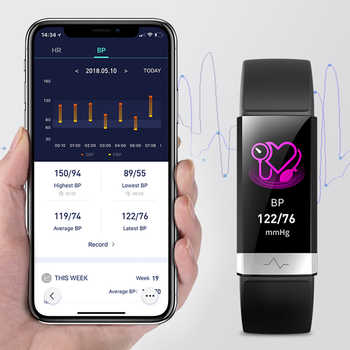 2019 New blood pressure wrist band heart rate monitor bracelet ECG PPG HRV smart watch with electrocardiogram display wristband - DISCOUNT ITEM  30% OFF All Category