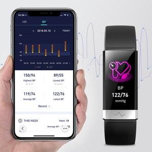 Image 1 - جديد ضغط الدم المعصم الفرقة مراقب معدل ضربات القلب سوار ECG PPG HRV ساعة ذكية مع عرض القلب الكهربائي معصمه