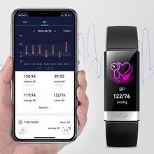 """לחץ דם חדש להקת יד קצב לב צג צמיד אק""""ג PPG HRV חכם שעון עם רל תצוגת צמיד"""