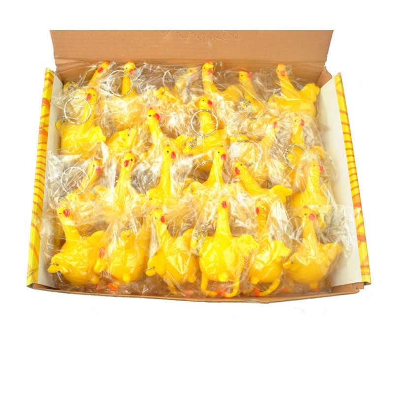 ตลกพวงกุญแจวางไข่ Tricky Relief ไก่ Key Chian ความเครียดบีบไก่และไข่ไก่ตลกตกแต่งคีย์
