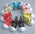 5cm doll shoes Denim Canvas Mini Toy Shoes 1/4 Bjd For Russian Tilda Doll Sneackers