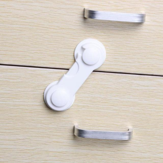 5Pcs/Set Kids Baby Safety Drawer Locks Children Security Protection Lock For Cabinet Refrigerator Window Toddler  Wardrobe Lock 3