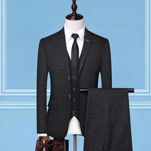 Suits Wedding-Suit Single-Button Italian-Style 3piece Slim-Fit-Suit Groom Men New Spring