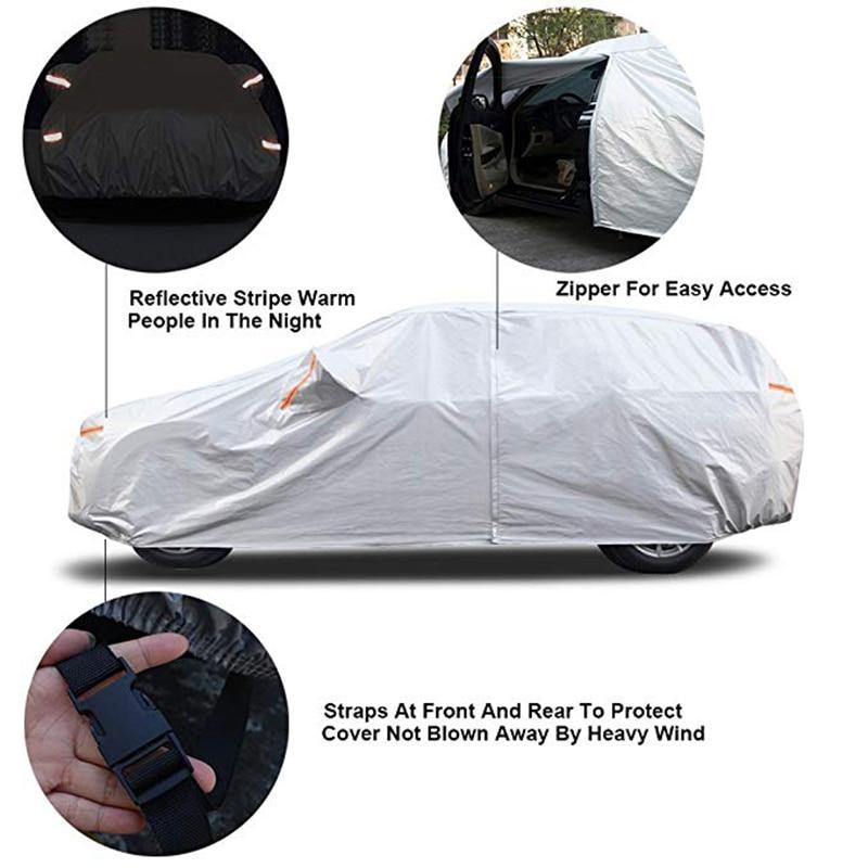 Kayme 210T Vattentät Full Car Covers Skydd mot solenergi utomhus, - Exteriör biltillbehör - Foto 4