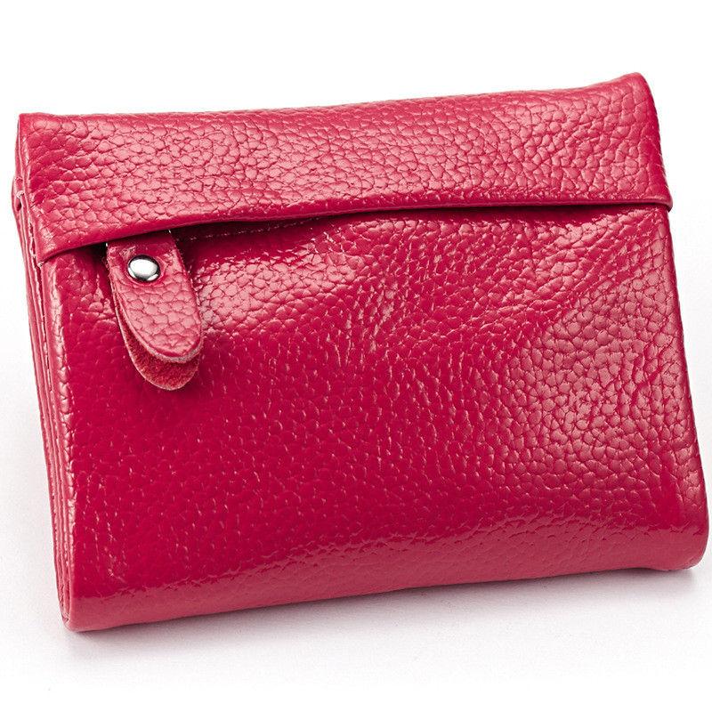Lederen vrouwelijke portefeuilles hot koop mooie korte mini vrouwen - Portemonnees en portefeuilles