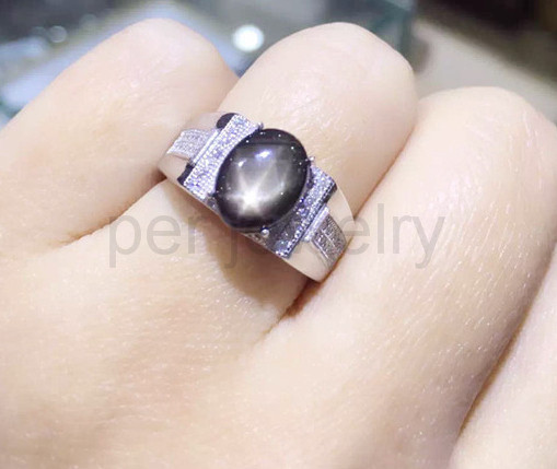cabochon s p rays ct oval loose star sapphire size natural ring gemstone blue