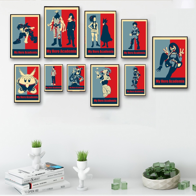 My Hero Academia Pop Art Wall Art Paint Wall Decor Canvas Prints Canvas Art Poster Oil Paintings No Frame
