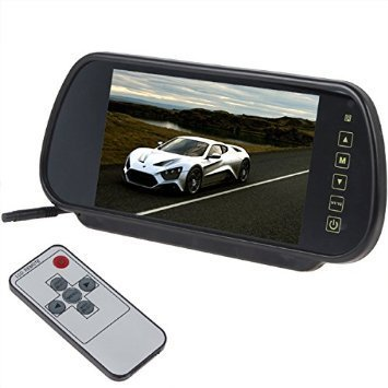 Free shipping 7 inch LCD car rearview mirror monitor backup parking sensor DVD font b GPS
