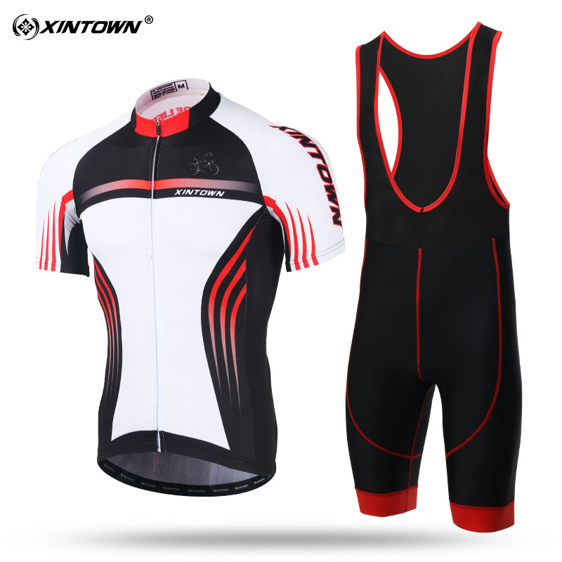 XINTOWN Cycling Clothing Cool Road Bike Jersey Set Short Sleeve Cycle Kits Ropa De Ciclismo Pro Cycle Team Bike Clothes