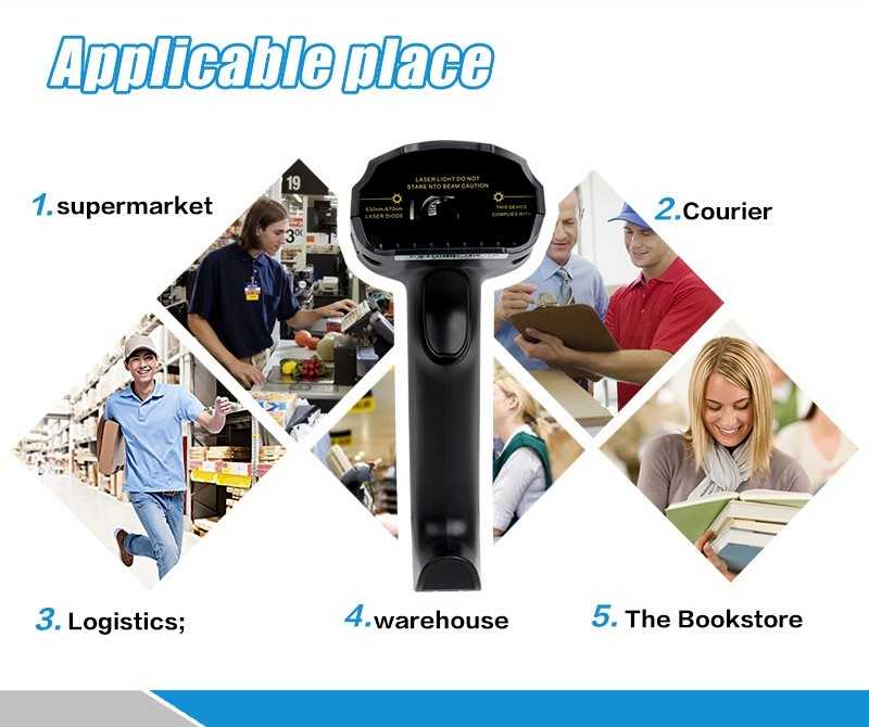 25PCS/lot EY8150BL New Wireless Bluetooth 1D Barcode Scanner Mini Barcode Reader for iOS, Android Windows System Bar Scanner 6