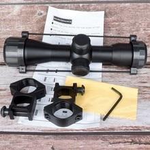 Nowy Tactical 4X32 karabin pneumatyczny optyka Sniper Scope kompaktowe lunety lunety myśliwskie z 20mm/11mm mocowania na szynie