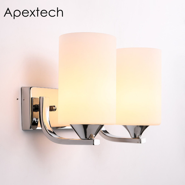 Apextech Fashion Iron Wall Lamp Morden Style Bedside Night Light Wall Mounted E26/E27 Reading light For Home Decoration