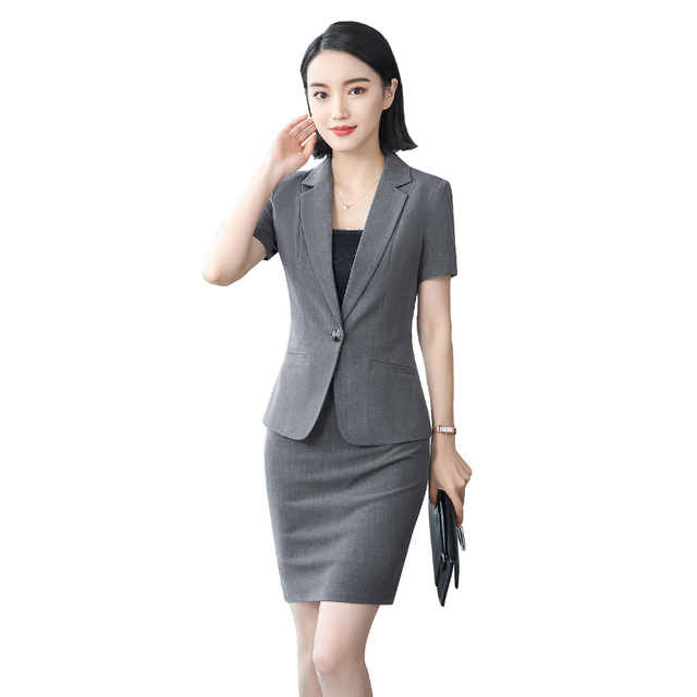 women office dress suits & blazer plus size elegant pencil skirt two ...