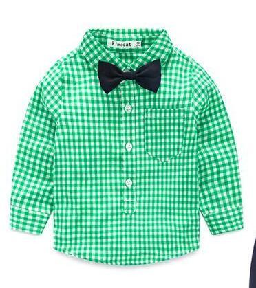 2016-baby-boy-clothes-autumn-long-sleeved-grid-tie-gentleman-blouse-infant-shirt-free-shipping-2